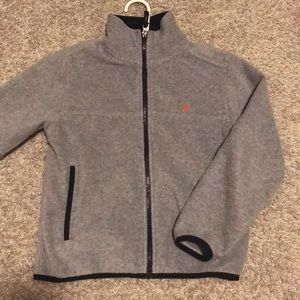 Nautica Boys Fleece Sweater Jacket Full Zip Sz 8